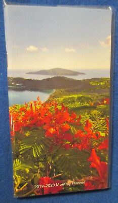 """2019-2020 POCKET Purse 6.5X3.5"""" MONTHLY PLANNER 2-Year HAWAII Tropical ISLANDS"""