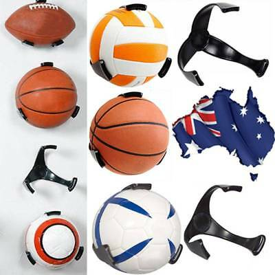 PC Ball Claw Wall Mount Rack Holder Display Rugby Basketball Soccer Football -