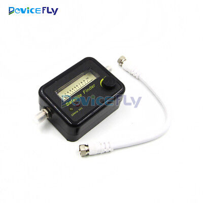 Digital Satellite Signal Dish FTA HD Monitors Signal Strength Meter Finder Cable