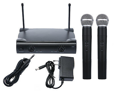 Pro Dual WIRELESS CORDLESS MICROPHONE SYSTEM WIRELESS UT4 TYPE MIC For SHURE
