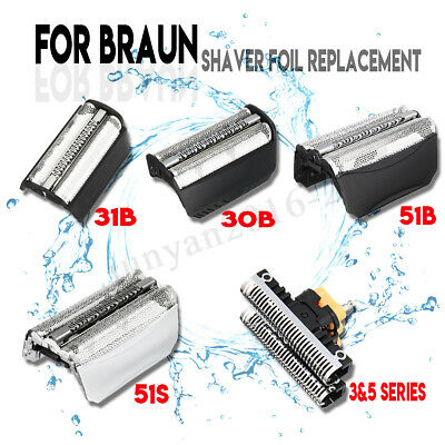 Shaver Razor Foil Cutter Blades Replacement For Braun 3&5 Series 30B 31B 51B 51S