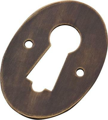 oval sheet brass escutcheon suit skeleton key,victorian style,8 finishes