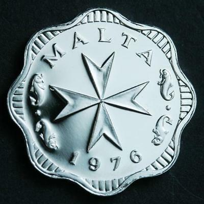 1976 Malta 2 Mils Proof Coin KM#5 High Grade
