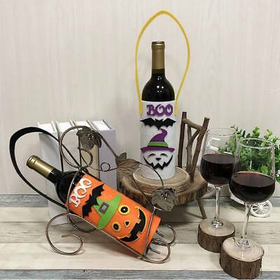 Halloween Party Wine Bottle Cover Pumpkin/Black Cat/Ghost Cover Bags Decor Gift