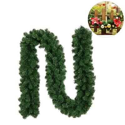 18ft 2.7M DIY Garland Christmas Decor Fireplace Tree Pine Leaves Wreaths Rattan