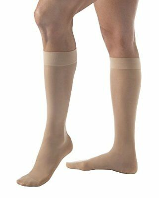 Jobst Women's UltraSheer Firm Support Knee Highs,Medium,Natural