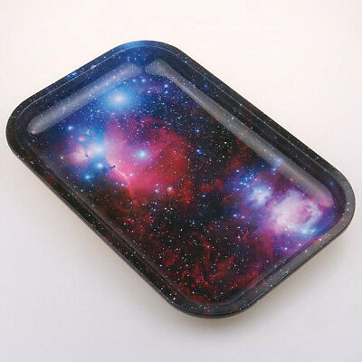 Space Galaxy Cigarette Rolling Tray Bundle Metal Essential TOBACCO Papers Holder