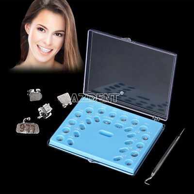Orthodontic Self-ligating Brackets With Buccal Tube Mini MBT.022 3 Hook AZDENT
