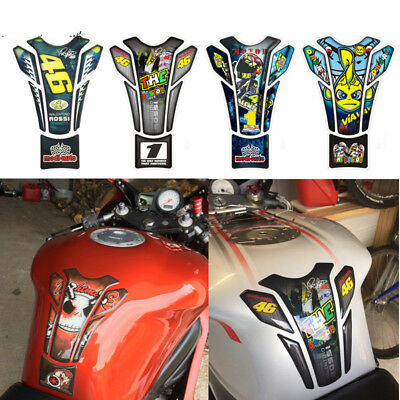 3D Motorcycle Fuel Tank Pad Protector Cover Sticker 46 The Doctor Racing Decal