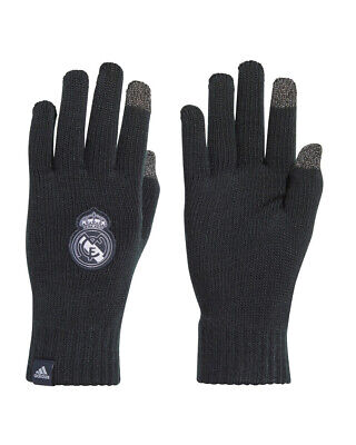 Real Madrid Adidas Winter fashion wool gloves Touchscreen Unisex Navy