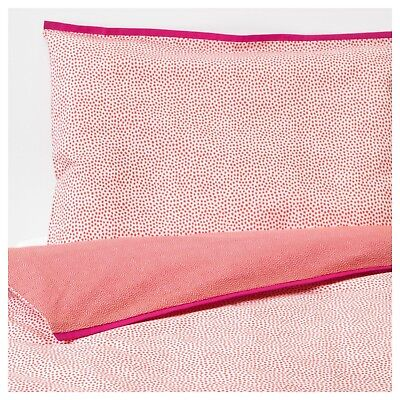 Ikea Baby Red Cot Quilt Cover And Pillowcase Set 100% Cotton Unisex Bedding