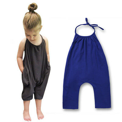 Playsuit Kids Romper Halter Baby Jumpsuit High Quality Outfits Stylish Toddler
