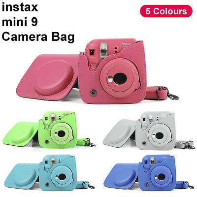 For Fujifilm Fuji Instax Mini 8 9 Instant Camera Leather Bag Carry Cover Case