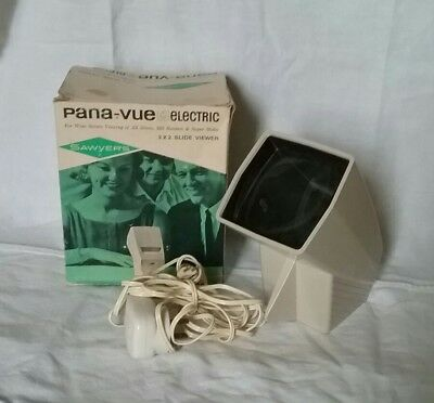 Vintage Sawyers Pana Vue Electric 2x2 Slide Viewer With Box