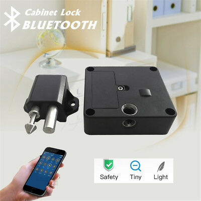 Bluetooth Electronic Smart Hidden Cabinet Door Drawer Lock Auto Safety Secure