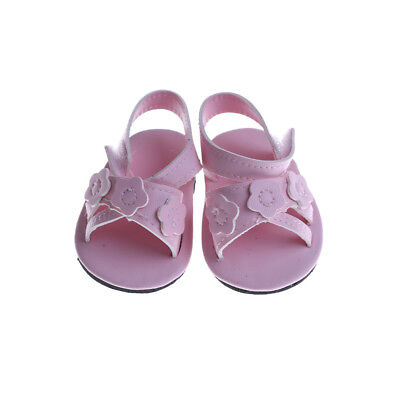 c51652c88c62 18 INCH Doll Shoes for 43CM Zapf Reborn Baby Doll Summer Sandal JT ...