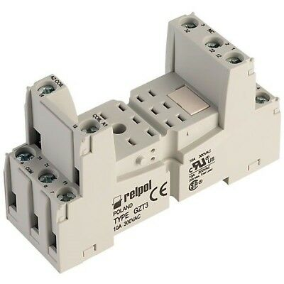 Relpol GZT3 Relay Socket 11 Pin 300V AC 10A DIN
