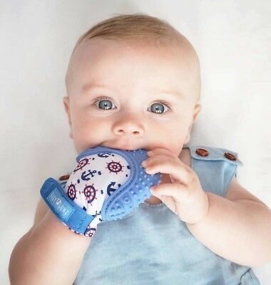 Teething Mitten for Babies by Baby Gumz. Premium Quality Silicone Teether Glove.