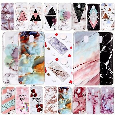 Hybrid Soft TPU Silicone Marble Pattern Case Cover For Samsung Galaxy J3 J5 J7