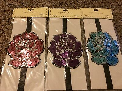 US SELLER Floral Rose flowers Lot 10 Colors Headbands Flapper Girl Women Costume