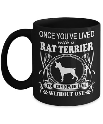 RAT TERRIER DOG,Ratting Terrier,Decker Giant,Rattie,Rat terriers dog,Coffee Mug
