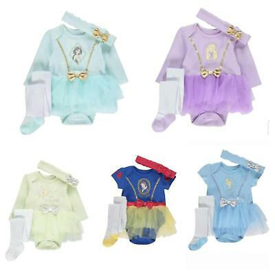 Baby Girl 3 Piece Disney Princess fairy Tutu Bodysuit Fancy Dress Costume gift