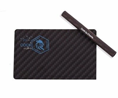 100% Carbon Fiber Snuff Credit Card Luxury Gift Cutting Card And Straw Tobacco