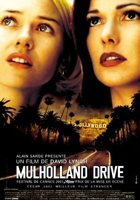 MULHOLLAND DRIVE Affiche Cinéma Originale ROULEE 53x40 Movie Poster David Lynch