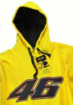 Sweatshirt Hoody Bike MotoGP Valentino Rossi Big 46 Hoodie Yellow US