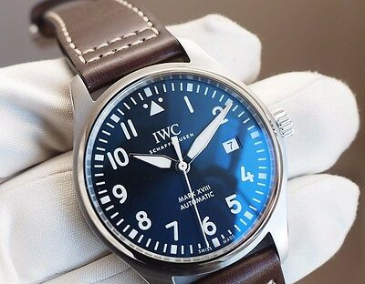 reputable site f1754 6c15a IWC IW327004 IW327014 Mark 18 XVIII Pilot Midnight Blue Dial NEW