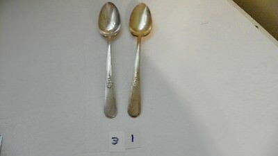 Set Of 2  Holmes & Edwards Youth 1940 Serving Spoons  Silver Plate International