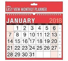 2019 Wall Calendar Slim Large Month to View Planner Easy View Home Office