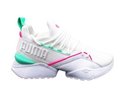 Puma Sneakers Muse Maia Street 1 Wn s Bianco Verde Rosa 367355-02 2be25d56d55