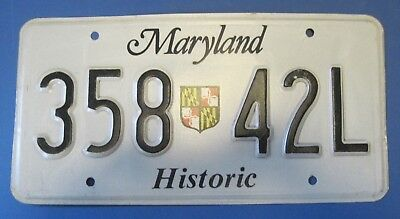 Maryland Historic license plate with State Shield