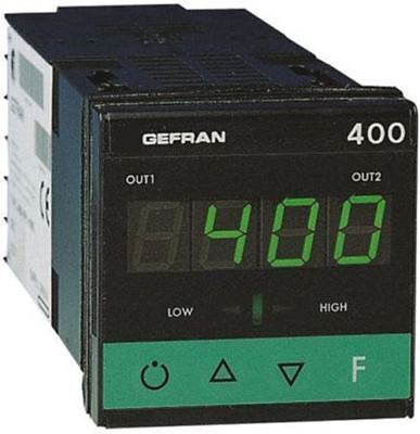 Gefran 400 PID Temperature Controller, 48 x 48 (1/16 DIN)mm, 2 Output Logic, Rel