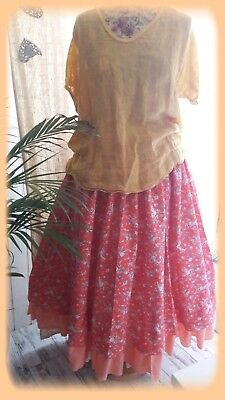 free jupe jupon bohme hippie chic coton floral magnolia bien ample voile  pearl with jupe hippie chic 68be8b83afff