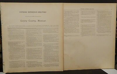 Missouri Gentry County Map Patron's Reference Directory 1914  L26#33