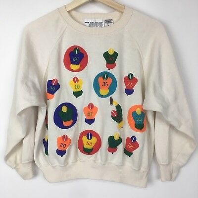 VTG The Mob Football Stance Hut Hut Crewneck Sweatshirt Child Size Large