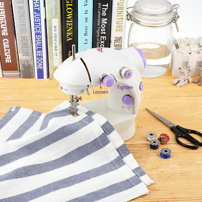 Portable Electric Mini Sewing Machine 2 Speed Foot Pedal Handheld Kit a F01