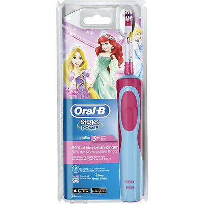 Oral-B Stages Power Disney Princess Kids Childs Rechargeable Electric Toothbrush
