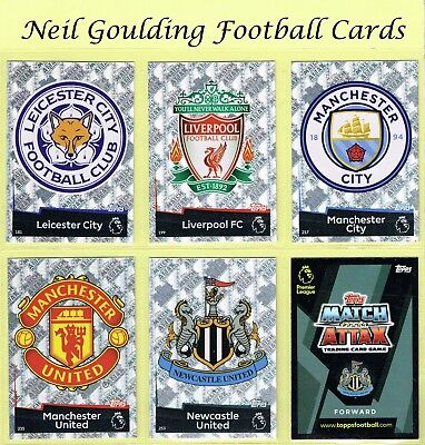 MATCH ATTAX 2018-2019 ☆☆☆ Premier League Football Trading Cards ☆☆☆ #181 to #270