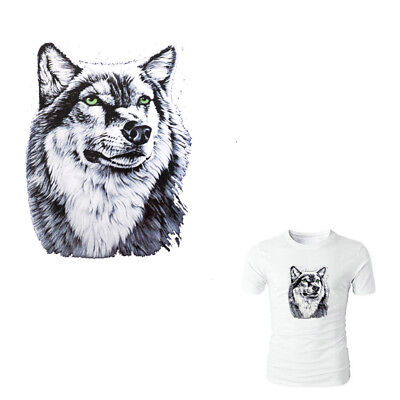 Wolf Patches Irons on Stickers DIY Heat Transfer Patches T-shirt Applique DecoXW