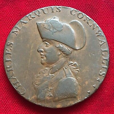 Marquis Cornwallis Large Penny Token, 1794. Payable At Decks Post Office Bury.