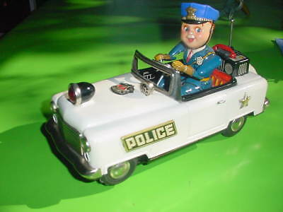 Polizei Police Car,  Nomura Japan Battery Operated, Batterieautomat