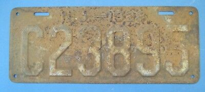 1928 New Jersey license Plate cheap