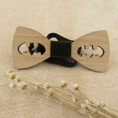 Fashion Men's Wooden Bow Tie Accessory Wedding Gift Bamboo Wood Bowtie Charm