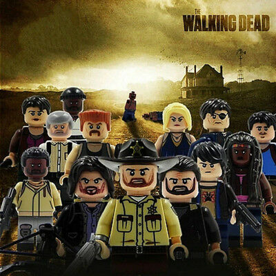 The walking dead inspired standard building blocks compatible action figures