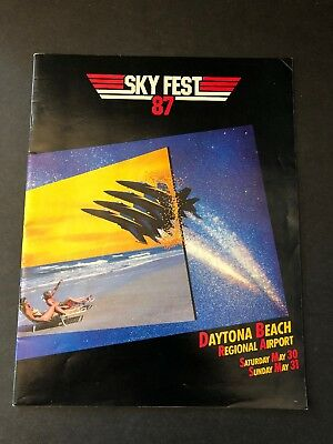 SkyFest '87 - Daytona Beach, FL - 1987 Official Souvenir Program - Free Shipping