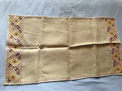 Beautiful Vintage Hand-Embroidered Table Runner