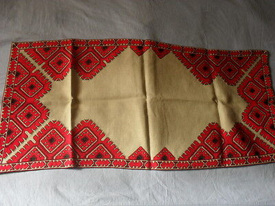 Lovely Vintage Hand-Embroidered Table Runner